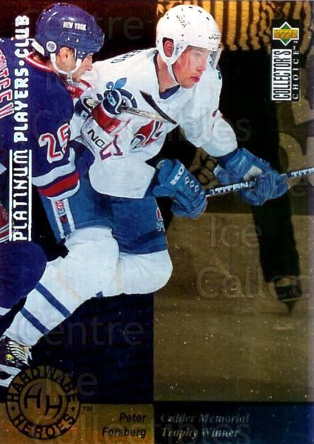 1995-96 Collectors Choice Players Club Platinum #391 Peter Forsberg<br/>5 In Stock - $5.00 each - <a href=https://centericecollectibles.foxycart.com/cart?name=1995-96%20Collectors%20Choice%20Players%20Club%20Platinum%20%23391%20Peter%20Forsberg...&quantity_max=5&price=$5.00&code=390396 class=foxycart> Buy it now! </a>