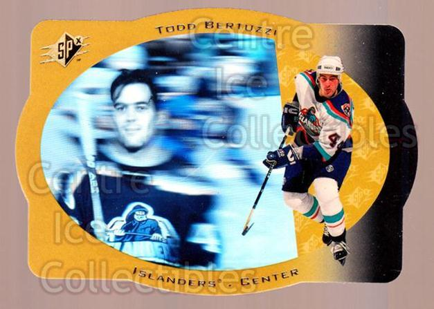 1996-97 SPx Gold #30 Todd Bertuzzi<br/>1 In Stock - $5.00 each - <a href=https://centericecollectibles.foxycart.com/cart?name=1996-97%20SPx%20Gold%20%2330%20Todd%20Bertuzzi...&quantity_max=1&price=$5.00&code=390427 class=foxycart> Buy it now! </a>