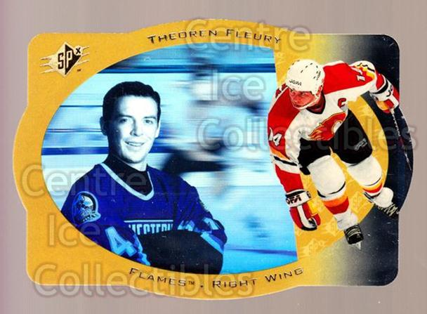 1996-97 SPx Gold #5 Theo Fleury<br/>2 In Stock - $3.00 each - <a href=https://centericecollectibles.foxycart.com/cart?name=1996-97%20SPx%20Gold%20%235%20Theo%20Fleury...&quantity_max=2&price=$3.00&code=390443 class=foxycart> Buy it now! </a>