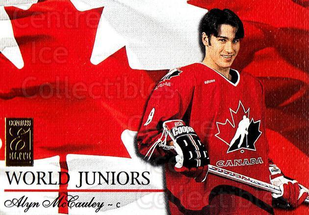 1995-96 Donruss Elite World Juniors #18 Alyn McCauley<br/>21 In Stock - $5.00 each - <a href=https://centericecollectibles.foxycart.com/cart?name=1995-96%20Donruss%20Elite%20World%20Juniors%20%2318%20Alyn%20McCauley...&price=$5.00&code=39048 class=foxycart> Buy it now! </a>