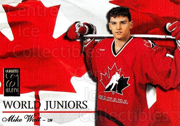 1995-96 Donruss Elite World Juniors #21 Mike Watt<br/>4 In Stock - $5.00 each - <a href=https://centericecollectibles.foxycart.com/cart?name=1995-96%20Donruss%20Elite%20World%20Juniors%20%2321%20Mike%20Watt...&quantity_max=4&price=$5.00&code=39051 class=foxycart> Buy it now! </a>