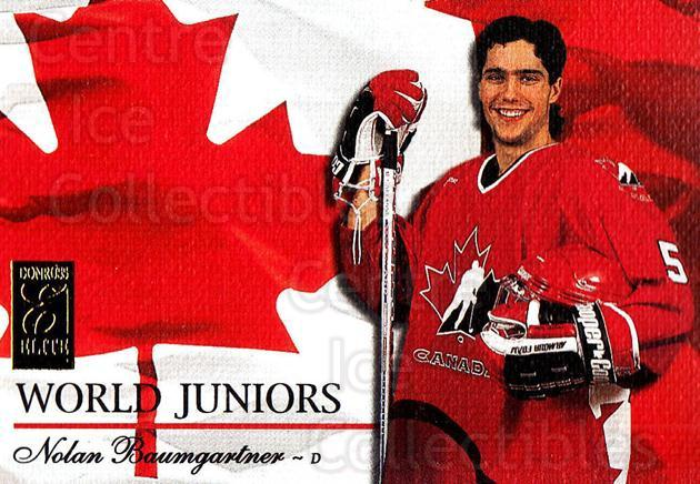1995-96 Donruss Elite World Juniors #4 Nolan Baumgartner<br/>1 In Stock - $5.00 each - <a href=https://centericecollectibles.foxycart.com/cart?name=1995-96%20Donruss%20Elite%20World%20Juniors%20%234%20Nolan%20Baumgartn...&quantity_max=1&price=$5.00&code=39057 class=foxycart> Buy it now! </a>