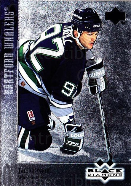 1996-97 Black Diamond #92 Jeff O'Neill<br/>5 In Stock - $3.00 each - <a href=https://centericecollectibles.foxycart.com/cart?name=1996-97%20Black%20Diamond%20%2392%20Jeff%20O'Neill...&quantity_max=5&price=$3.00&code=390701 class=foxycart> Buy it now! </a>