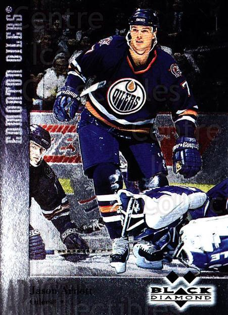 1996-97 Black Diamond #97 Jason Arnott<br/>5 In Stock - $3.00 each - <a href=https://centericecollectibles.foxycart.com/cart?name=1996-97%20Black%20Diamond%20%2397%20Jason%20Arnott...&quantity_max=5&price=$3.00&code=390706 class=foxycart> Buy it now! </a>