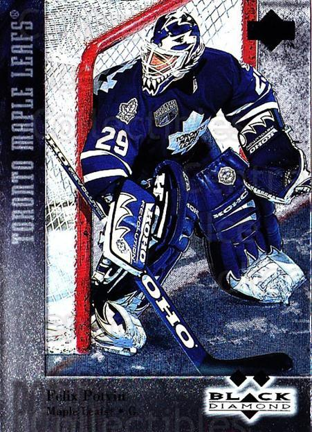 1996-97 Black Diamond #129 Felix Potvin<br/>1 In Stock - $5.00 each - <a href=https://centericecollectibles.foxycart.com/cart?name=1996-97%20Black%20Diamond%20%23129%20Felix%20Potvin...&quantity_max=1&price=$5.00&code=390738 class=foxycart> Buy it now! </a>