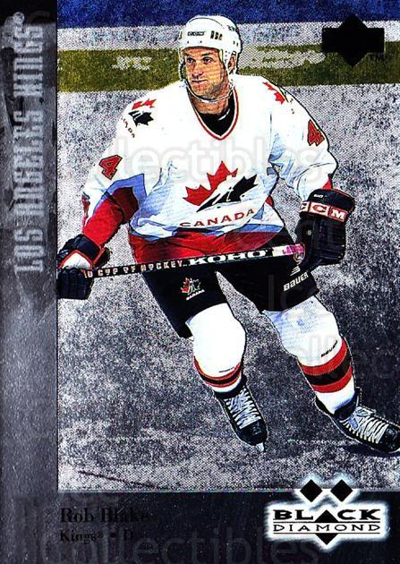 1996-97 Black Diamond #144 Rob Blake<br/>1 In Stock - $3.00 each - <a href=https://centericecollectibles.foxycart.com/cart?name=1996-97%20Black%20Diamond%20%23144%20Rob%20Blake...&quantity_max=1&price=$3.00&code=390753 class=foxycart> Buy it now! </a>