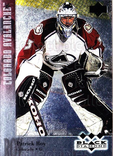 1996-97 Black Diamond #174 Patrick Roy<br/>1 In Stock - $40.00 each - <a href=https://centericecollectibles.foxycart.com/cart?name=1996-97%20Black%20Diamond%20%23174%20Patrick%20Roy...&quantity_max=1&price=$40.00&code=390783 class=foxycart> Buy it now! </a>