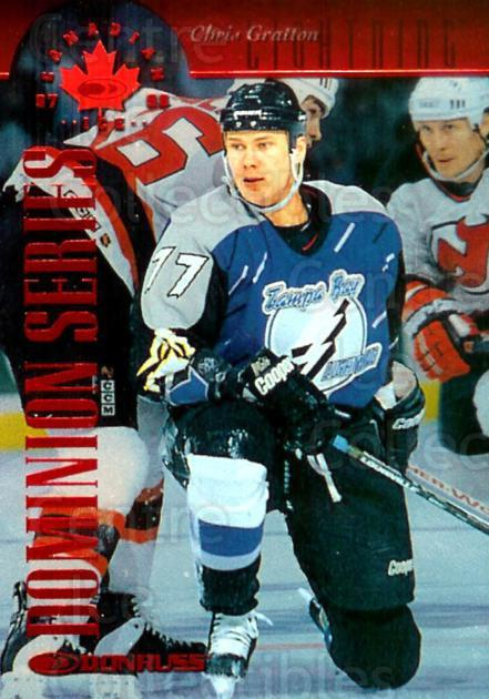 1997-98 Canadian Ice Dominion Numbered #39 Chris Gratton<br/>1 In Stock - $5.00 each - <a href=https://centericecollectibles.foxycart.com/cart?name=1997-98%20Canadian%20Ice%20Dominion%20Numbered%20%2339%20Chris%20Gratton...&quantity_max=1&price=$5.00&code=391053 class=foxycart> Buy it now! </a>