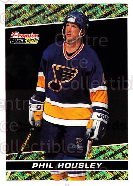 1993-94 Topps Premier Black Gold #19 Phil Housley<br/>20 In Stock - $2.00 each - <a href=https://centericecollectibles.foxycart.com/cart?name=1993-94%20Topps%20Premier%20Black%20Gold%20%2319%20Phil%20Housley...&quantity_max=20&price=$2.00&code=3917 class=foxycart> Buy it now! </a>