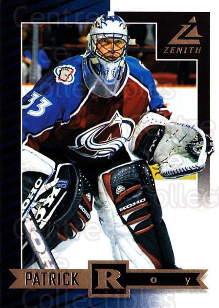 1997-98 Zenith #10 Patrick Roy<br/>3 In Stock - $5.00 each - <a href=https://centericecollectibles.foxycart.com/cart?name=1997-98%20Zenith%20%2310%20Patrick%20Roy...&quantity_max=3&price=$5.00&code=392229 class=foxycart> Buy it now! </a>