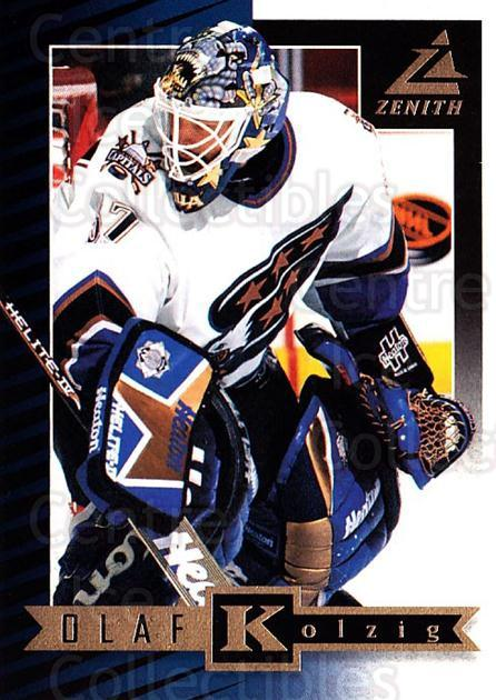 1997-98 Zenith #59 Olaf Kolzig<br/>5 In Stock - $1.00 each - <a href=https://centericecollectibles.foxycart.com/cart?name=1997-98%20Zenith%20%2359%20Olaf%20Kolzig...&quantity_max=5&price=$1.00&code=392278 class=foxycart> Buy it now! </a>
