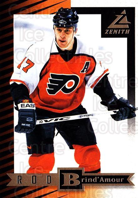 1997-98 Zenith #74 Rod Brind'Amour<br/>8 In Stock - $1.00 each - <a href=https://centericecollectibles.foxycart.com/cart?name=1997-98%20Zenith%20%2374%20Rod%20Brind'Amour...&quantity_max=8&price=$1.00&code=392293 class=foxycart> Buy it now! </a>