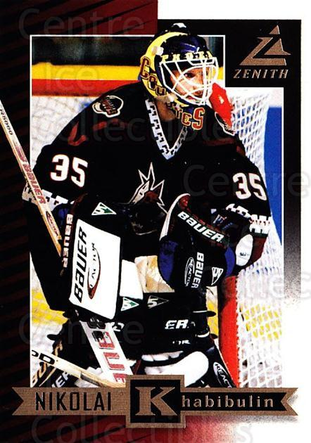 1997-98 Zenith #76 Nikolai Khabibulin<br/>8 In Stock - $1.00 each - <a href=https://centericecollectibles.foxycart.com/cart?name=1997-98%20Zenith%20%2376%20Nikolai%20Khabibu...&quantity_max=8&price=$1.00&code=392295 class=foxycart> Buy it now! </a>