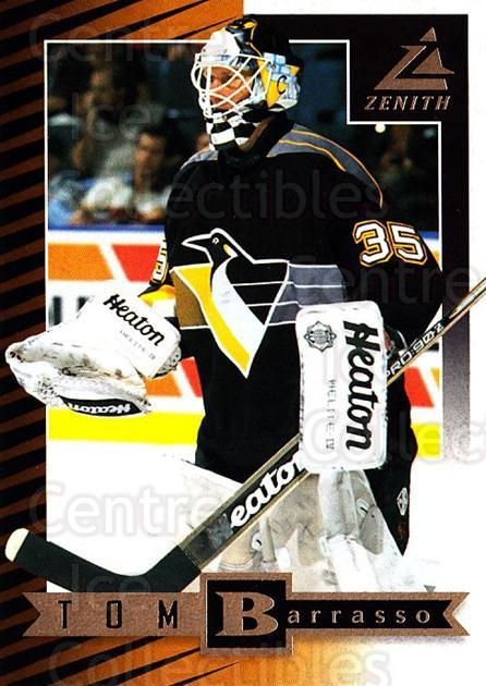 1997-98 Zenith #77 Tom Barrasso<br/>6 In Stock - $1.00 each - <a href=https://centericecollectibles.foxycart.com/cart?name=1997-98%20Zenith%20%2377%20Tom%20Barrasso...&price=$1.00&code=392296 class=foxycart> Buy it now! </a>