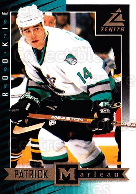 1997-98 Zenith #84 Patrick Marleau<br/>7 In Stock - $1.00 each - <a href=https://centericecollectibles.foxycart.com/cart?name=1997-98%20Zenith%20%2384%20Patrick%20Marleau...&quantity_max=7&price=$1.00&code=392303 class=foxycart> Buy it now! </a>