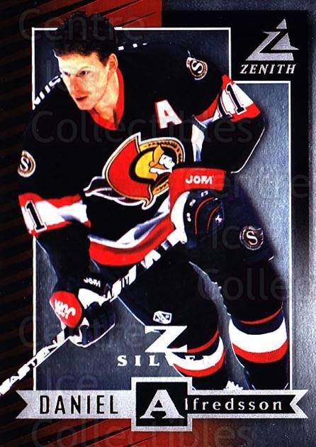 1997-98 Zenith Z-Silver #43 Daniel Alfredsson<br/>1 In Stock - $3.00 each - <a href=https://centericecollectibles.foxycart.com/cart?name=1997-98%20Zenith%20Z-Silver%20%2343%20Daniel%20Alfredss...&quantity_max=1&price=$3.00&code=392362 class=foxycart> Buy it now! </a>