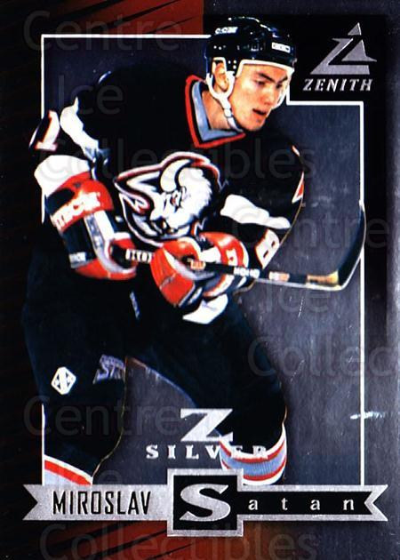 1997-98 Zenith Z-Silver #51 Miroslav Satan<br/>2 In Stock - $3.00 each - <a href=https://centericecollectibles.foxycart.com/cart?name=1997-98%20Zenith%20Z-Silver%20%2351%20Miroslav%20Satan...&quantity_max=2&price=$3.00&code=392370 class=foxycart> Buy it now! </a>