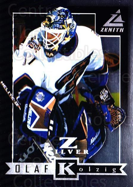 1997-98 Zenith Z-Silver #59 Olaf Kolzig<br/>1 In Stock - $3.00 each - <a href=https://centericecollectibles.foxycart.com/cart?name=1997-98%20Zenith%20Z-Silver%20%2359%20Olaf%20Kolzig...&quantity_max=1&price=$3.00&code=392378 class=foxycart> Buy it now! </a>