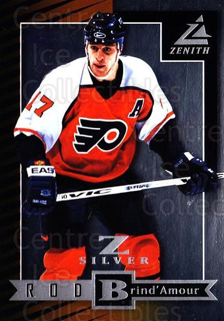 1997-98 Zenith Z-Silver #74 Rod Brind'Amour<br/>5 In Stock - $3.00 each - <a href=https://centericecollectibles.foxycart.com/cart?name=1997-98%20Zenith%20Z-Silver%20%2374%20Rod%20Brind'Amour...&quantity_max=5&price=$3.00&code=392393 class=foxycart> Buy it now! </a>