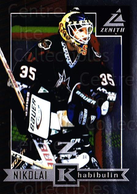 1997-98 Zenith Z-Silver #76 Nikolai Khabibulin<br/>1 In Stock - $3.00 each - <a href=https://centericecollectibles.foxycart.com/cart?name=1997-98%20Zenith%20Z-Silver%20%2376%20Nikolai%20Khabibu...&quantity_max=1&price=$3.00&code=392395 class=foxycart> Buy it now! </a>