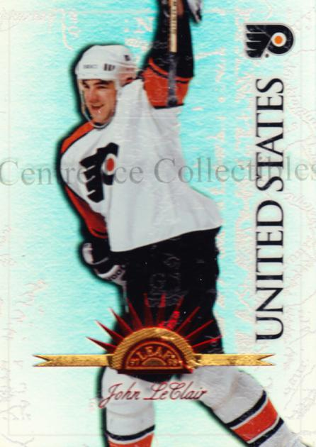 1997-98 Leaf International Universal Ice #100 John LeClair<br/>4 In Stock - $5.00 each - <a href=https://centericecollectibles.foxycart.com/cart?name=1997-98%20Leaf%20International%20Universal%20Ice%20%23100%20John%20LeClair...&quantity_max=4&price=$5.00&code=392522 class=foxycart> Buy it now! </a>