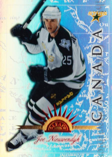 1997-98 Leaf International Universal Ice #108 Joe Nieuwendyk<br/>1 In Stock - $5.00 each - <a href=https://centericecollectibles.foxycart.com/cart?name=1997-98%20Leaf%20International%20Universal%20Ice%20%23108%20Joe%20Nieuwendyk...&quantity_max=1&price=$5.00&code=392530 class=foxycart> Buy it now! </a>