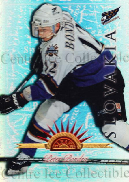 1997-98 Leaf International Universal Ice #91 Peter Bondra<br/>1 In Stock - $5.00 each - <a href=https://centericecollectibles.foxycart.com/cart?name=1997-98%20Leaf%20International%20Universal%20Ice%20%2391%20Peter%20Bondra...&quantity_max=1&price=$5.00&code=392656 class=foxycart> Buy it now! </a>