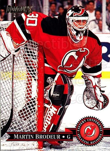 1995-96 Donruss #149 Martin Brodeur<br/>2 In Stock - $2.00 each - <a href=https://centericecollectibles.foxycart.com/cart?name=1995-96%20Donruss%20%23149%20Martin%20Brodeur...&quantity_max=2&price=$2.00&code=39266 class=foxycart> Buy it now! </a>
