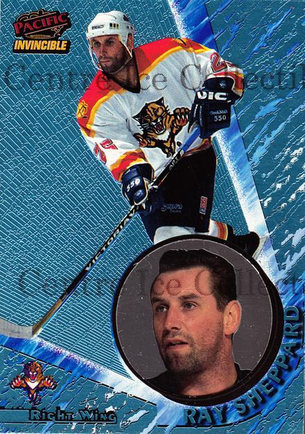 1997-98 Invincible Ice Blue #63 Ray Sheppard<br/>1 In Stock - $5.00 each - <a href=https://centericecollectibles.foxycart.com/cart?name=1997-98%20Invincible%20Ice%20Blue%20%2363%20Ray%20Sheppard...&quantity_max=1&price=$5.00&code=393591 class=foxycart> Buy it now! </a>