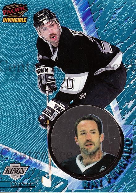 1997-98 Invincible Ice Blue #66 Ray Ferraro<br/>3 In Stock - $5.00 each - <a href=https://centericecollectibles.foxycart.com/cart?name=1997-98%20Invincible%20Ice%20Blue%20%2366%20Ray%20Ferraro...&quantity_max=3&price=$5.00&code=393594 class=foxycart> Buy it now! </a>