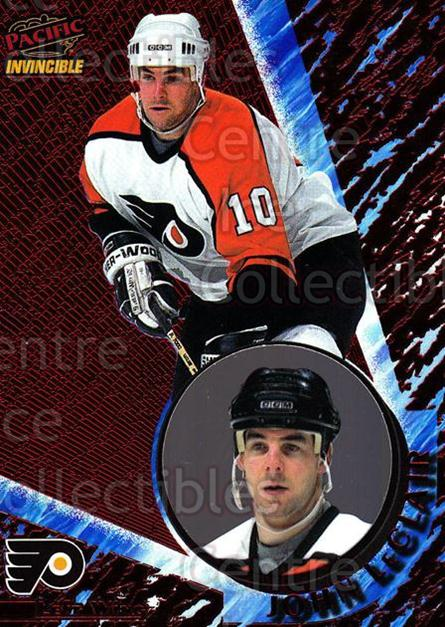 1997-98 Invincible Red #101 John LeClair<br/>3 In Stock - $5.00 each - <a href=https://centericecollectibles.foxycart.com/cart?name=1997-98%20Invincible%20Red%20%23101%20John%20LeClair...&quantity_max=3&price=$5.00&code=393653 class=foxycart> Buy it now! </a>