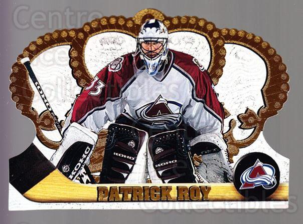 1997-98 Crown Royale #37 Patrick Roy<br/>1 In Stock - $5.00 each - <a href=https://centericecollectibles.foxycart.com/cart?name=1997-98%20Crown%20Royale%20%2337%20Patrick%20Roy...&quantity_max=1&price=$5.00&code=393953 class=foxycart> Buy it now! </a>