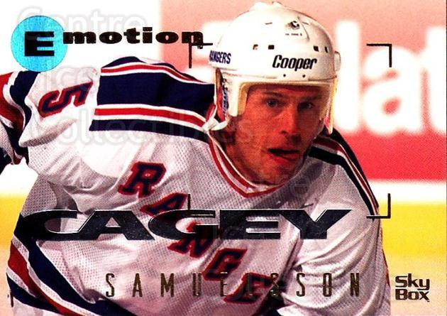 1995-96 Emotion #119 Ulf Samuelsson<br/>5 In Stock - $1.00 each - <a href=https://centericecollectibles.foxycart.com/cart?name=1995-96%20Emotion%20%23119%20Ulf%20Samuelsson...&quantity_max=5&price=$1.00&code=39415 class=foxycart> Buy it now! </a>