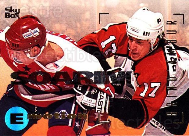 1995-96 Emotion #129 Rod Brind'Amour<br/>6 In Stock - $1.00 each - <a href=https://centericecollectibles.foxycart.com/cart?name=1995-96%20Emotion%20%23129%20Rod%20Brind'Amour...&quantity_max=6&price=$1.00&code=39426 class=foxycart> Buy it now! </a>