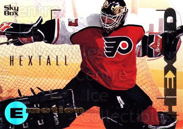 1995-96 Emotion #131 Ron Hextall<br/>4 In Stock - $1.00 each - <a href=https://centericecollectibles.foxycart.com/cart?name=1995-96%20Emotion%20%23131%20Ron%20Hextall...&quantity_max=4&price=$1.00&code=39429 class=foxycart> Buy it now! </a>