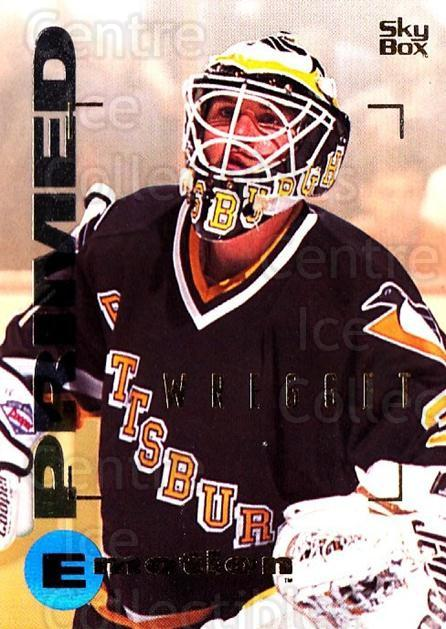 1995-96 Emotion #143 Ken Wregget<br/>5 In Stock - $1.00 each - <a href=https://centericecollectibles.foxycart.com/cart?name=1995-96%20Emotion%20%23143%20Ken%20Wregget...&quantity_max=5&price=$1.00&code=39439 class=foxycart> Buy it now! </a>