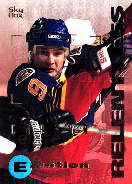 1995-96 Emotion #145 Shayne Corson<br/>5 In Stock - $1.00 each - <a href=https://centericecollectibles.foxycart.com/cart?name=1995-96%20Emotion%20%23145%20Shayne%20Corson...&quantity_max=5&price=$1.00&code=39441 class=foxycart> Buy it now! </a>