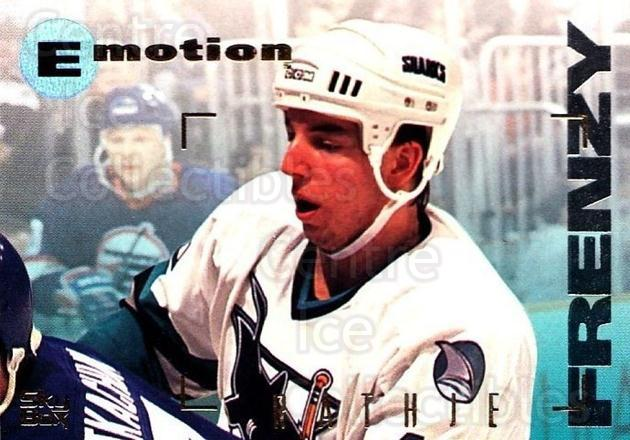 1995-96 Emotion #160 Mike Rathje<br/>5 In Stock - $1.00 each - <a href=https://centericecollectibles.foxycart.com/cart?name=1995-96%20Emotion%20%23160%20Mike%20Rathje...&quantity_max=5&price=$1.00&code=39457 class=foxycart> Buy it now! </a>