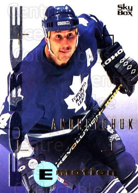 1995-96 Emotion #168 Dave Andreychuk<br/>6 In Stock - $1.00 each - <a href=https://centericecollectibles.foxycart.com/cart?name=1995-96%20Emotion%20%23168%20Dave%20Andreychuk...&quantity_max=6&price=$1.00&code=39465 class=foxycart> Buy it now! </a>
