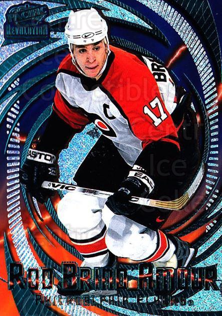 1997-98 Revolution Emerald #97 Rod Brind'Amour<br/>1 In Stock - $3.00 each - <a href=https://centericecollectibles.foxycart.com/cart?name=1997-98%20Revolution%20Emerald%20%2397%20Rod%20Brind'Amour...&quantity_max=1&price=$3.00&code=394680 class=foxycart> Buy it now! </a>