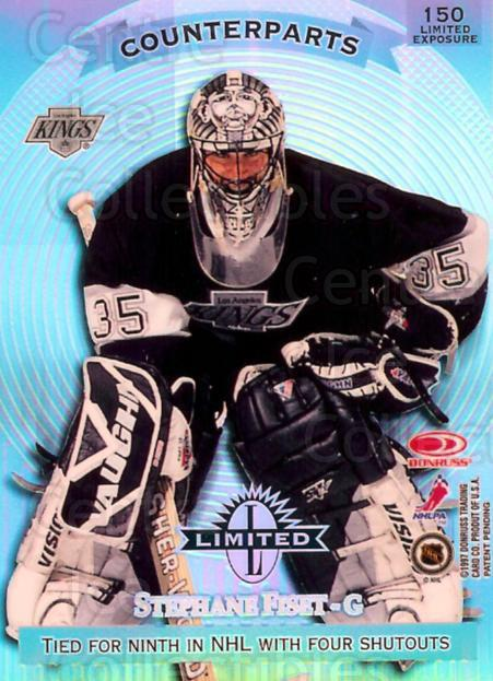 1997-98 Donruss Limited Exposure #150 Martin Brodeur, Stephane Fiset<br/>1 In Stock - $10.00 each - <a href=https://centericecollectibles.foxycart.com/cart?name=1997-98%20Donruss%20Limited%20Exposure%20%23150%20Martin%20Brodeur,...&price=$10.00&code=395034 class=foxycart> Buy it now! </a>
