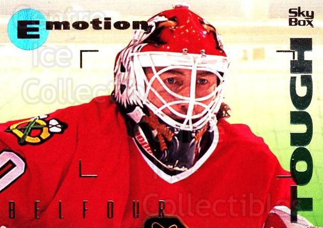 1995-96 Emotion #27 Ed Belfour<br/>4 In Stock - $1.00 each - <a href=https://centericecollectibles.foxycart.com/cart?name=1995-96%20Emotion%20%2327%20Ed%20Belfour...&quantity_max=4&price=$1.00&code=39509 class=foxycart> Buy it now! </a>