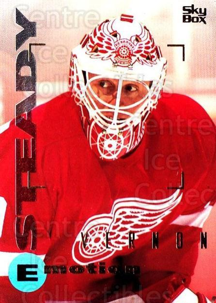 1995-96 Emotion #59 Mike Vernon<br/>3 In Stock - $1.00 each - <a href=https://centericecollectibles.foxycart.com/cart?name=1995-96%20Emotion%20%2359%20Mike%20Vernon...&quantity_max=3&price=$1.00&code=39539 class=foxycart> Buy it now! </a>