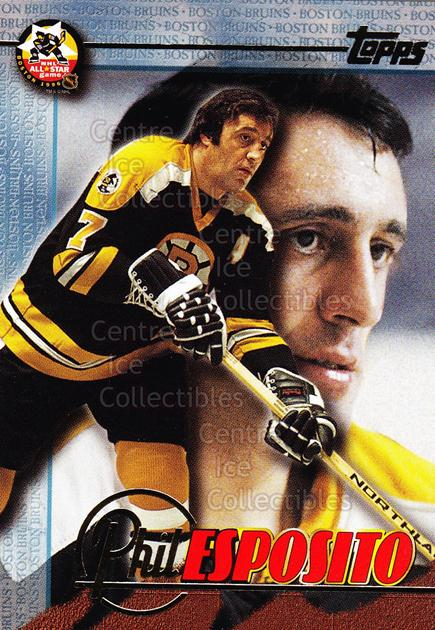 1995-96 Fanfest Phil Esposito #4 Phil Esposito<br/>1 In Stock - $3.00 each - <a href=https://centericecollectibles.foxycart.com/cart?name=1995-96%20Fanfest%20Phil%20Esposito%20%234%20Phil%20Esposito...&quantity_max=1&price=$3.00&code=39547 class=foxycart> Buy it now! </a>
