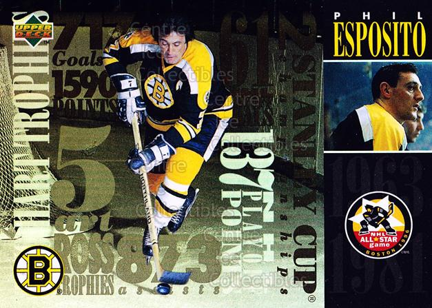1995-96 Fanfest Phil Esposito #5 Phil Esposito<br/>1 In Stock - $3.00 each - <a href=https://centericecollectibles.foxycart.com/cart?name=1995-96%20Fanfest%20Phil%20Esposito%20%235%20Phil%20Esposito...&quantity_max=1&price=$3.00&code=39548 class=foxycart> Buy it now! </a>