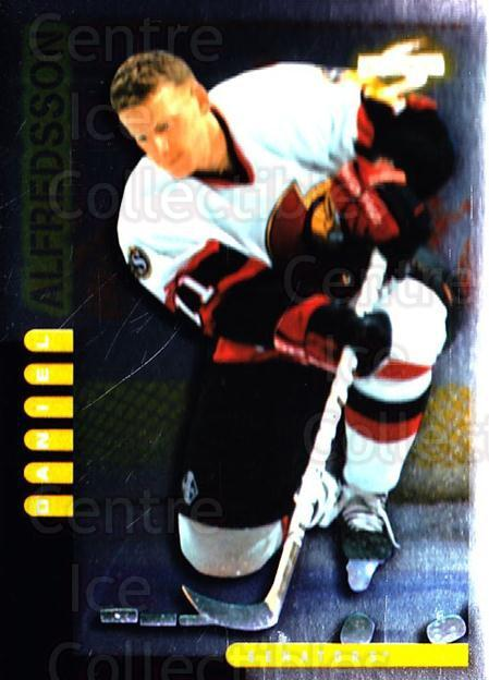 1997-98 Score Golden Blades #131 Daniel Alfredsson<br/>4 In Stock - $2.00 each - <a href=https://centericecollectibles.foxycart.com/cart?name=1997-98%20Score%20Golden%20Blades%20%23131%20Daniel%20Alfredss...&quantity_max=4&price=$2.00&code=395815 class=foxycart> Buy it now! </a>