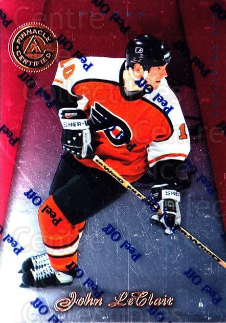 1997-98 Pinnacle Certified Red #119 John LeClair<br/>3 In Stock - $3.00 each - <a href=https://centericecollectibles.foxycart.com/cart?name=1997-98%20Pinnacle%20Certified%20Red%20%23119%20John%20LeClair...&quantity_max=3&price=$3.00&code=396069 class=foxycart> Buy it now! </a>
