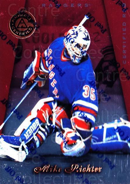 1997-98 Pinnacle Certified Red #13 Mike Richter<br/>1 In Stock - $3.00 each - <a href=https://centericecollectibles.foxycart.com/cart?name=1997-98%20Pinnacle%20Certified%20Red%20%2313%20Mike%20Richter...&quantity_max=1&price=$3.00&code=396081 class=foxycart> Buy it now! </a>