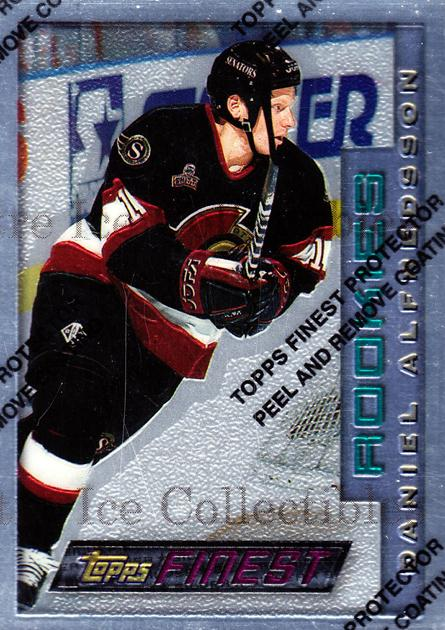 1995-96 Finest #116 Daniel Alfredsson<br/>1 In Stock - $10.00 each - <a href=https://centericecollectibles.foxycart.com/cart?name=1995-96%20Finest%20%23116%20Daniel%20Alfredss...&quantity_max=1&price=$10.00&code=39618 class=foxycart> Buy it now! </a>