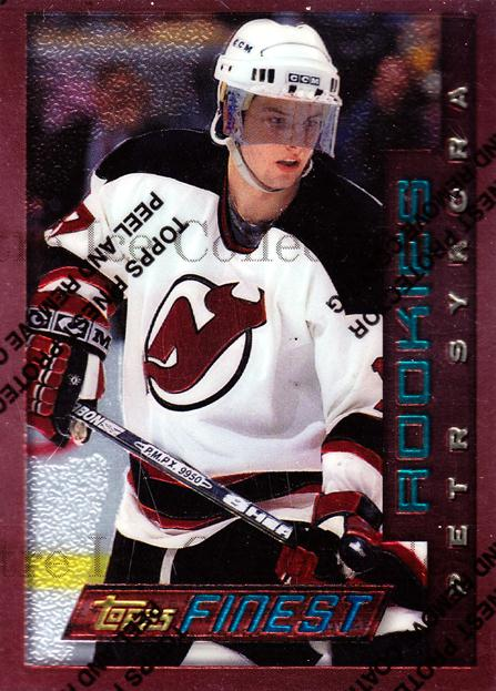 1995-96 Finest #134 Petr Sykora<br/>6 In Stock - $1.00 each - <a href=https://centericecollectibles.foxycart.com/cart?name=1995-96%20Finest%20%23134%20Petr%20Sykora...&quantity_max=6&price=$1.00&code=39636 class=foxycart> Buy it now! </a>